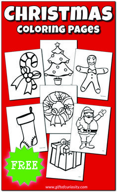 Free Christmas coloring pages featuring 10 Christmas characters and items. Easter Coloring Sheets, Happy Birthday Coloring Pages, Printable Christmas Coloring Pages, Christmas Coloring Sheets, Free Christmas Printables, Free Printable Coloring Pages, Free Printables, Minion Coloring Pages, Dinosaur Coloring Pages