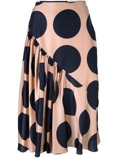 Shop now Stella McCartney large polka dot print skirt for at Farfetch UK. Silk Skirt, Dress Skirt, African Fashion Skirts, High Skirts, Fashion Sewing, Printed Skirts, Fashion Outfits, Womens Fashion, Dress Fashion