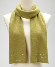 Take a look at this Roaring Green Rhinestone Cashmere Scarf by Portolano on #zulily today!