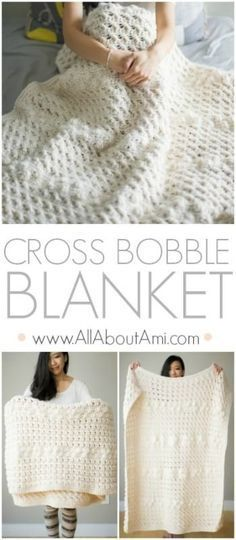 Crochet this beautifully textured blanket using a variety of unique stitches! Free pattern, step-by-step tutorial and video available!