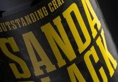 Fyne Ales Sanda IPA Black and Blonde labels designed by Matt Burns.