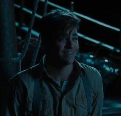Chris Pine as Steve Trevor, alternative boat scene Wonder Woman Sweet smile