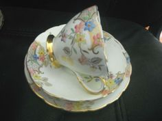 FOLEY CHINA CUP, SAUCER, SIDE PLATE TRIO VERY PRETTY FLOWER PATTERN