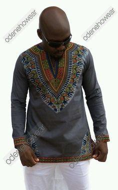 Odeneho Wear Men's Polished Cotton Long Sleeves by Odenehowear