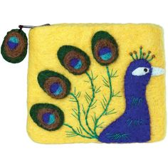 Felt Coin Purse - Peacock