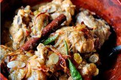 Bangladeshi Style Creamy Chicken Korma w/ Cardamom, Crispy Shallots, Almonds & Golden Raisans recipe on Food52