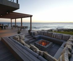 Sunken outdoor seating-another dream home idea...