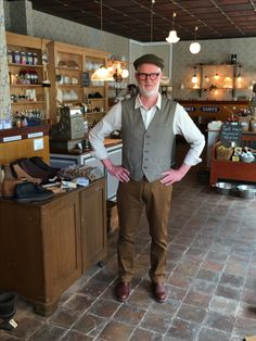 Smart guy in shirt, vest, pants and boots - do not come any better ... #workwear #traditionalclothing #slowfashion #heritagefashion