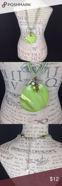 Green shell necklace Green adjustable  shell necklace. Very cute! Jewelry Necklaces