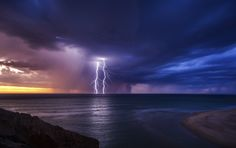 Twin Bolts - As a Photographer capturing an amazing storm roll in from the sea right on sunset, well it doesn't get much better in my opinion.