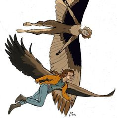 Traveling Buddies by sallyrah - Maximum Ride Forever Wings Sketch, Wings Drawing, Fantasy Character Design, Character Design Inspiration, Character Art, Really Cool Drawings, Supernatural Drawings, Bird People, Ange Demon