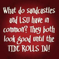 Alabama football roll tide roll *can replace LSU with any other team, still works. Alabama Football Funny, Alabama College, University Of Alabama, Lsu, College Football, Alabama Baby, Football Memes, American Football, Football Season