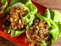 Quinoa Pilaf in Lettuce Cups Recipe : Aarti Sequeira : Food Network