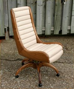 Unique office chair, based on a vintage racing car seat.