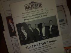 The Five Irish Tenors on their first US tour The Five, Crowley, Dublin, Ireland, Irish, Tours, Irish Language
