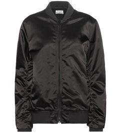 Buy it now. Leia Satin Bomber Jacket. Leia Black Satin Bomber Jacket By Acne Studios , chaquetabomber, bómber, bombers, elbowdiamond, baseball. Black ACNE STUDIOS  bomber jacket  for woman.