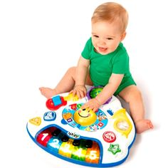 174.40$  Buy now - http://alifrk.worldwells.pw/go.php?t=32244875517 - D562 Bilingual  study tables section 6-36 months baby early childhood educational toys sound and light 174.40$