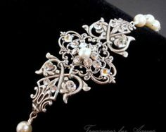 Bruiloft armband Crystal Bridal armband parel door treasures570