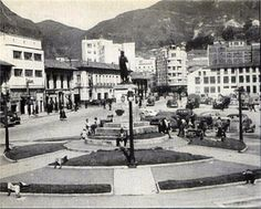 Bogota Antigua _Plaza de San Victorino, 1960 Japan Spring, Small Towns, Location History, Liverpool, Mexico, Street View, San, City, Nature