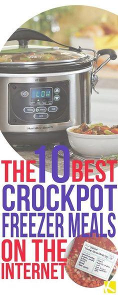 The 10 Best Crockpot Freezer Meals on the Internet. I love easy dinner recipes!