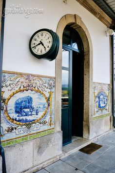 azulejos of Caminha Railway Station, Portugal