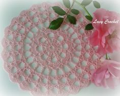 Mini Doily, free pattern diagram from Lacy Crochet.  Six inches across  #crochet