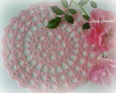 Mini Doily, free pattern diagram from Lacy Crochet.  Six inches across  #crochet