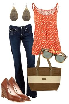 Cute and casual spring outfit