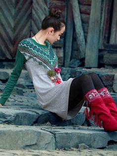 Festival Ethnic Style Chinese Dress