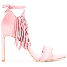 Stuart Weitzman Pompom Candy sandals ($369) ❤ liked on Polyvore featuring shoes, sandals, pink, pom pom shoes, pink sandals, leather footwear, stuart weitzman shoes and pink leather shoes