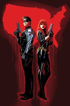 Bucky and Black Widow