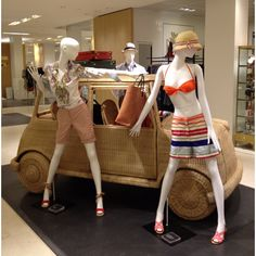 """LE BON MARCHE,Paris,France, """"The mercury is rising,it must be time for that old-age tradition, the summer road trip"""", pinned by Ton van der Veer"""