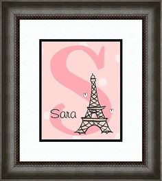 for the girl's Paris room