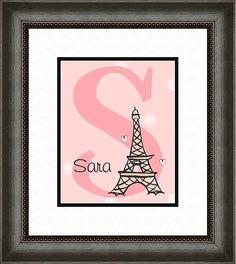 for the girl& Paris room Paris Room Decor, Paris Rooms, Paris Bedroom, Paris Theme, Bedroom Themes, Kids Bedroom, Bedroom Ideas, Bedrooms, Letter Wall Art