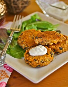 This isn't your typical recipe for sweet potatoes. Sweet potato, black bean and quinoa cakes combine great flavors and textures to enjoy.