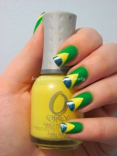 This is based on the Brazilian flag. The colors are too bright for me but I love the design.