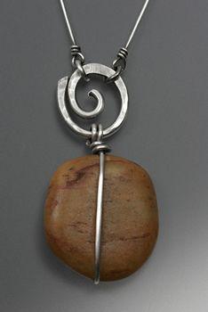 Great wire bail! jewelry designs