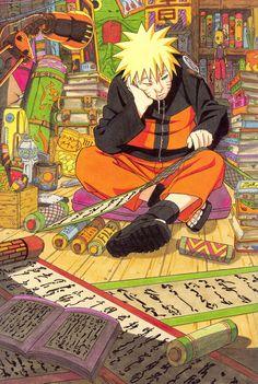 Naruto illustration by Masashi Kishimoto