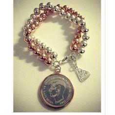 von treskow 2 tone bracelet Coin Bracelet, Bracelets, Gold Coins, Rose Gold, Charmed, Jewellery, Wine, Jewels, Schmuck