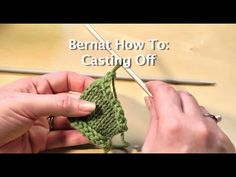Learn to cast off at the end of your knitting project with this easy-to-follow tutorial.