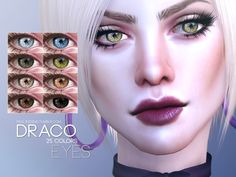 Eyes in 25 colors Found in TSR Category 'Sims 4 Eye Colors' Sims 4 Tsr, Sims Cc, Sims 4 Cc Eyes, The Sims 4 Skin, Queen Makeup, Sims 4 Clothing, Sims Mods, The Sims4, Ts4 Cc