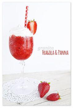 granita-fragola-ricetta-siciliana Sicilian Recipes, Granite, Alcoholic Drinks, Strawberry, Tableware, Food, Cooking, Easy, Tinkerbell