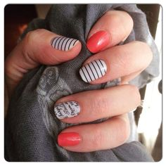 Jamberry nail wraps Country Club, Grapefruit & Word To The Wise #nails #art #color #wraps #jamberry http://www.luvmyshields.jamberrynails.net/