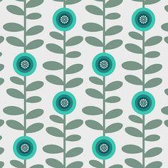 Retro flowers 2 by Troismiettes Retro Flowers, Retro Pattern, Pattern Art, Pretty Patterns, Flower Patterns, Color Limon, Graphic Art Prints, Decoupage Paper, Textile Patterns