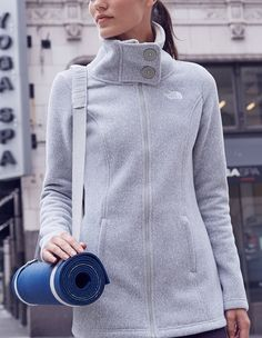 Obsessed with this post work-out sweater jacket.