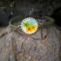 Real Flower Bracelet,Pressed Flower Bracelet,Resin Bracelet,Real Flower Jewelry, Resin Jewelry,Gift For Her,Botanical Jewelry,Women Bracelet