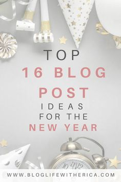 The beginning of a new year is the perfect time for a fresh start. You may be looking to try something different this year and that can start right here with your blog. At the beginning of the year, bloggers are often looking for some blog topic inspiration. So, today I am sharing my Top 16 New Blog Post Ideas that will make for a great start to your new year. #newyear #newgoals #blogpostideas #bloggingforbeginners