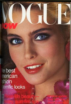 Kim Alexis was thee cover model in the 80's. So good.  1981 Vogue cover