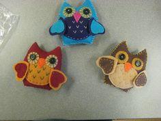 STUFFED felt owl craft