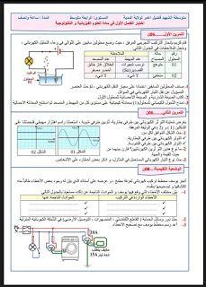 Physiquecem فيزياء المتوسط الاختبار الاول للسنة 4 مرفق بالحل و شبكة التقويم Bullet Journal Education Journal